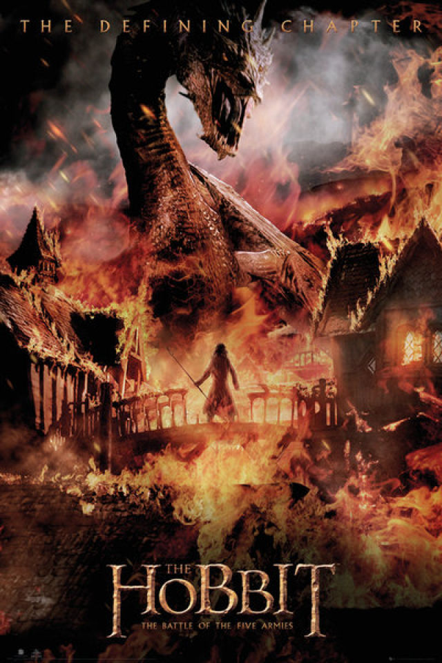 the-hobbit-battle-of-five-armies-dragon-maxi-poster-61-x-915cm