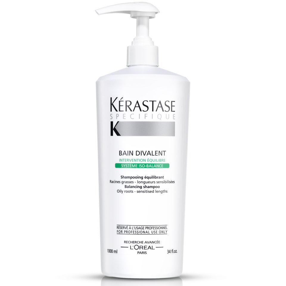 K rastase specifique bain divalent 1000ml with pump for Kerastase bain miroir reviews