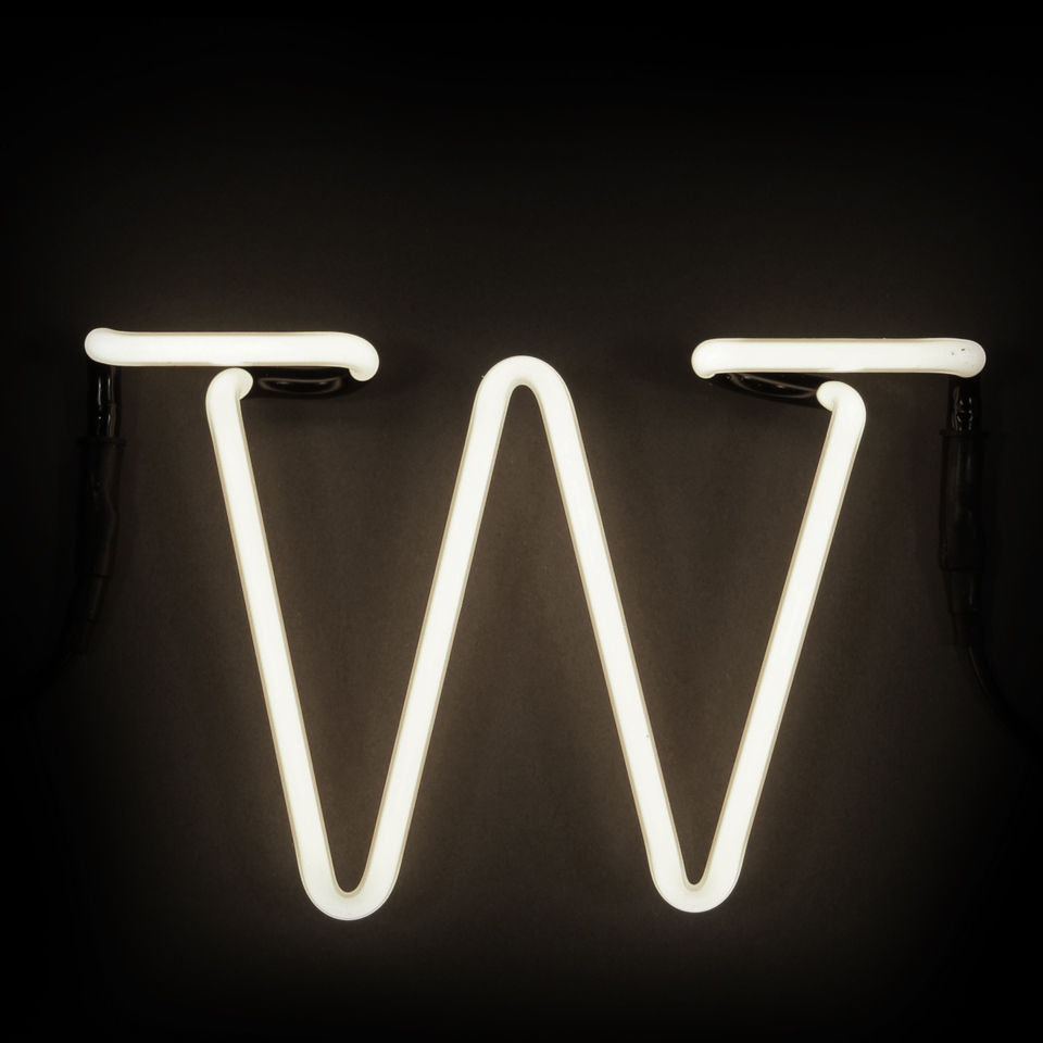 Seletti Neon Wall Light - Letter W - Free UK Delivery over ?50