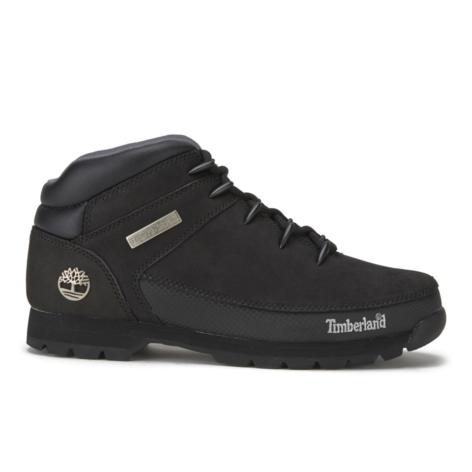 Timberland Mens Euro Sprint Leather Hiker Boots Black Uk 7