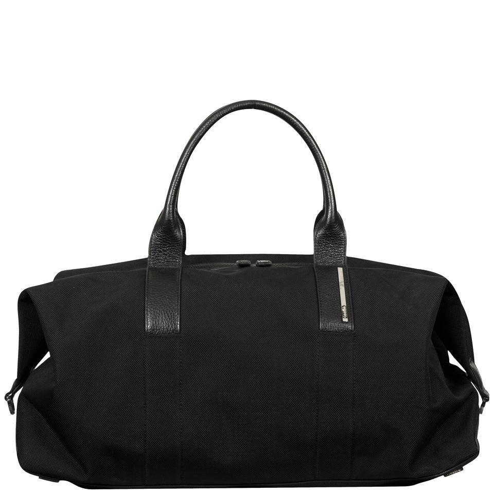 Calvin Klein Men s Luca Pebble Leather Duffle Bag - Black  b9cc459642ea5