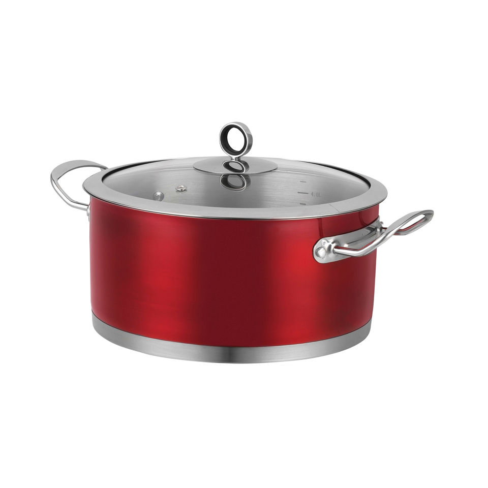 morphy-richards-46371-accents-24cm-casserole-dish-red