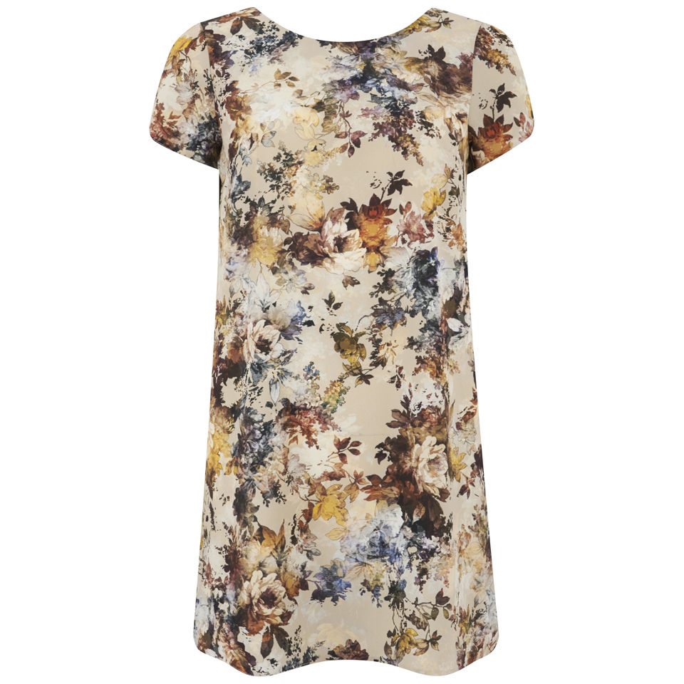 LOVE Women's V Back Shift Dress - Multi - UK 10 - multi