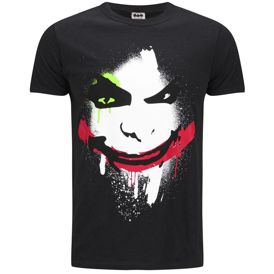 DC Comics Herren T Shirt Joker Big Face Schwarz L Schwarz