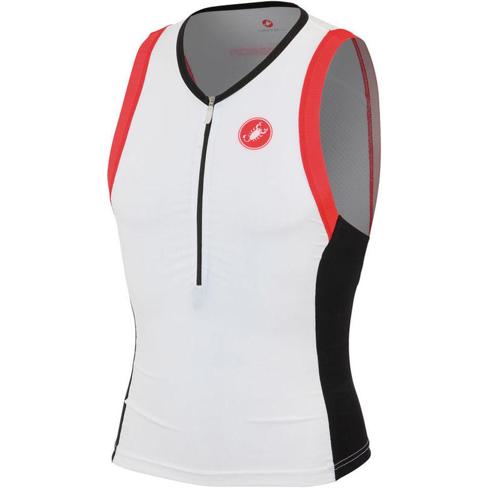 castelli-free-tri-top-white-black-red-s