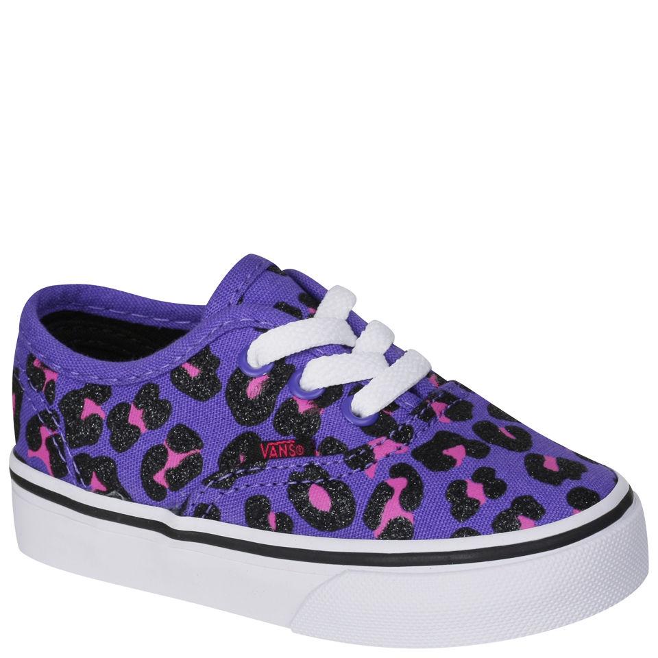 2bd35d41656d Vans Toddlers' Authentic Canvas Trainers - Cheetah Glitter - Purple  Clothing | TheHut.com