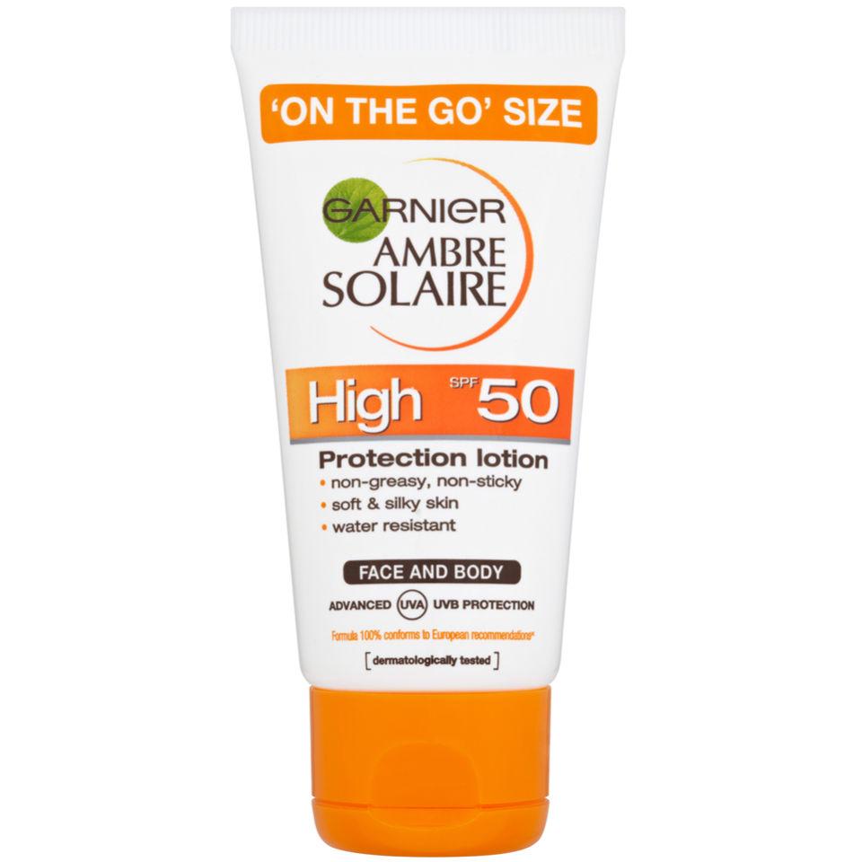 Garnier Ambre Solaire Ultra-Hydrating Sun Cream SPF 50+ 50ml Travel Size