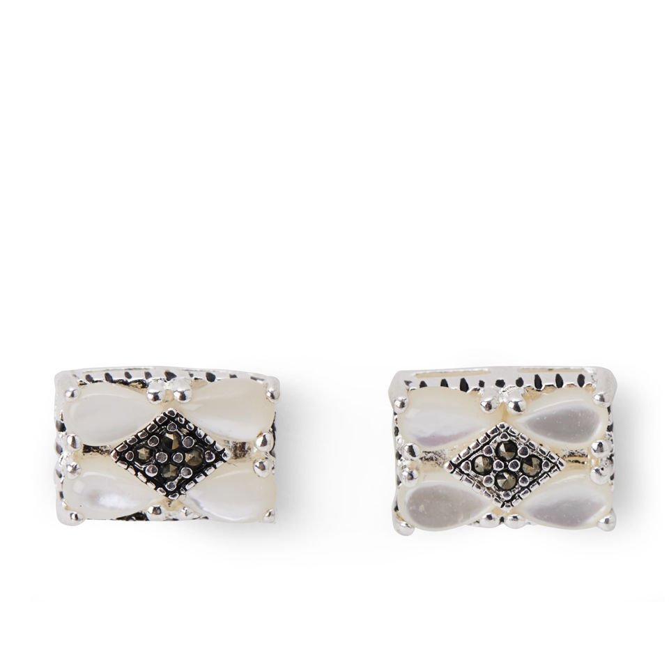 rectangle-silver-plated-marcasite-topaz-earrings
