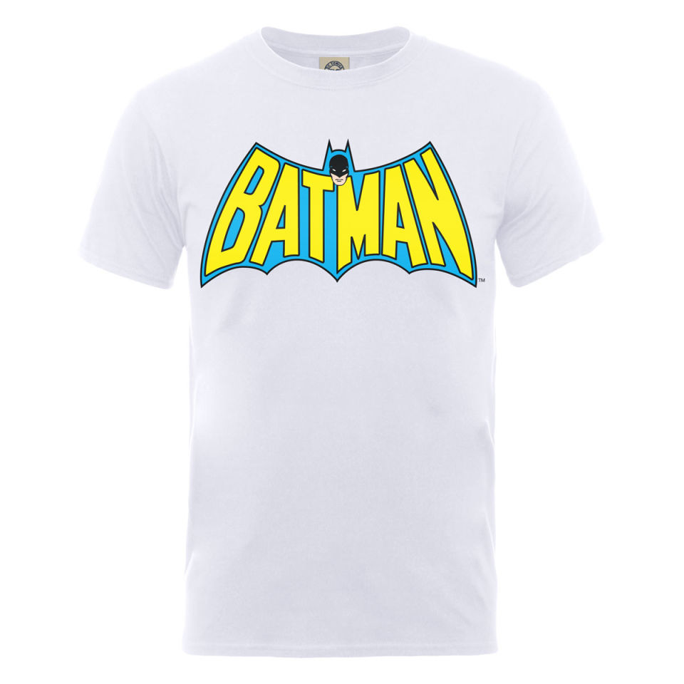 dc comics s t shirt batman retro logo white