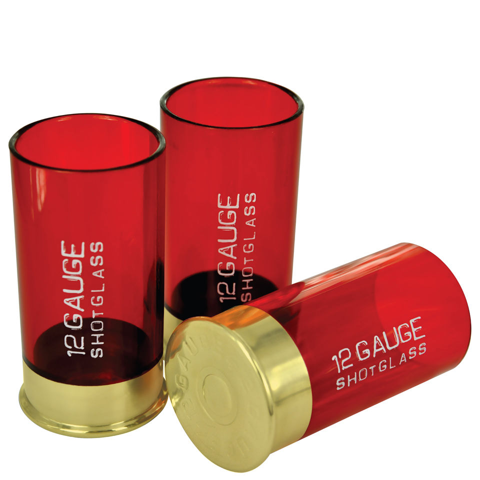 Image of 12 Gauge Cartridge Shaped Shot Glass (Pack of 4)