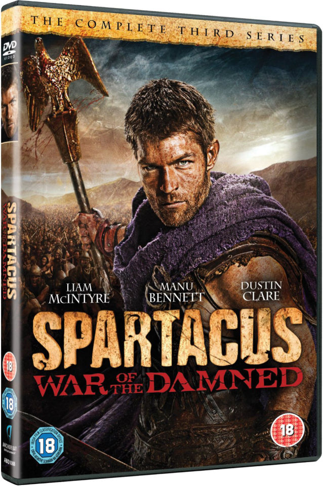 Spartacus War Of The Damned Dvd Zavvi