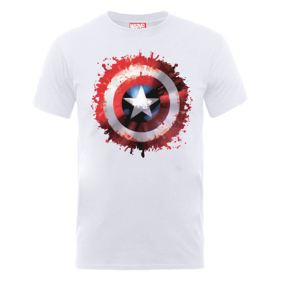 marvel avengers assemble captain america art shield men u0026 39 s t-shirt