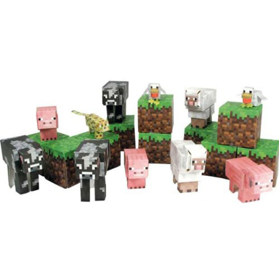 minecraft-papercraft-over-30-piece-sets