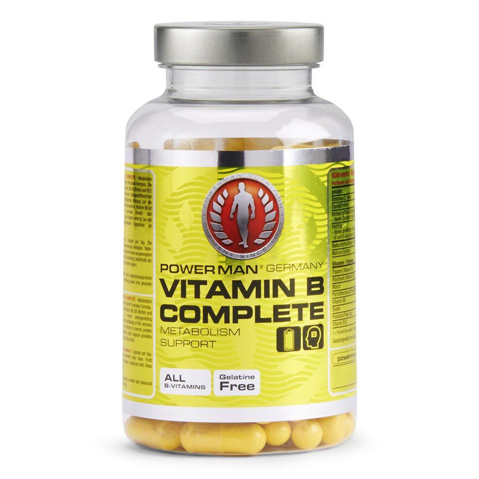 Vitamin B Complex | Vitamins & Minerals | Powerman.co.uk