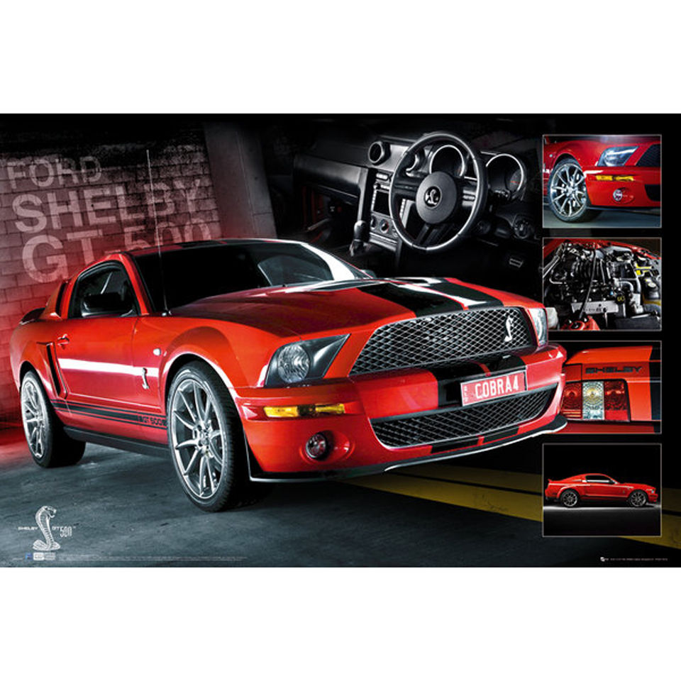 easton-red-mustang-gt500-maxi-poster-61-x-915cm