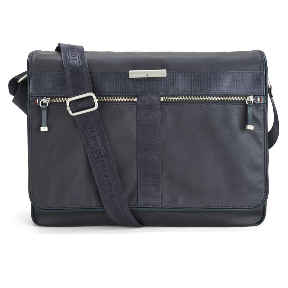 c46dd57904d Tommy Hilfiger Men's Coated Canvas Darren Messenger Bag with Flap