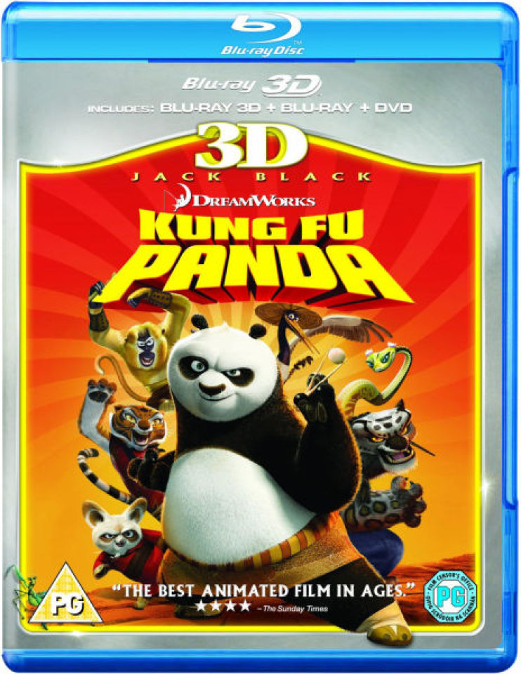 kung fu panda 3d 3d blu ray 2d blu ray and dvd blu ray zavvi. Black Bedroom Furniture Sets. Home Design Ideas
