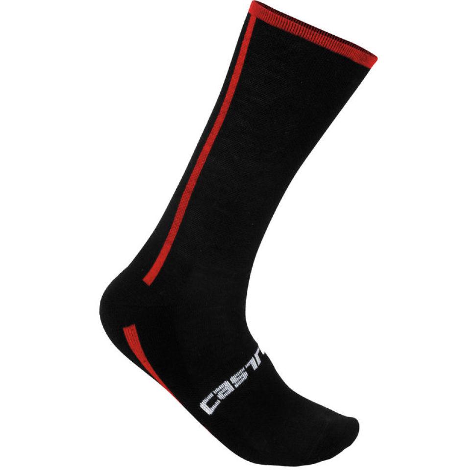 castelli-venti-socks-blackred-2xl