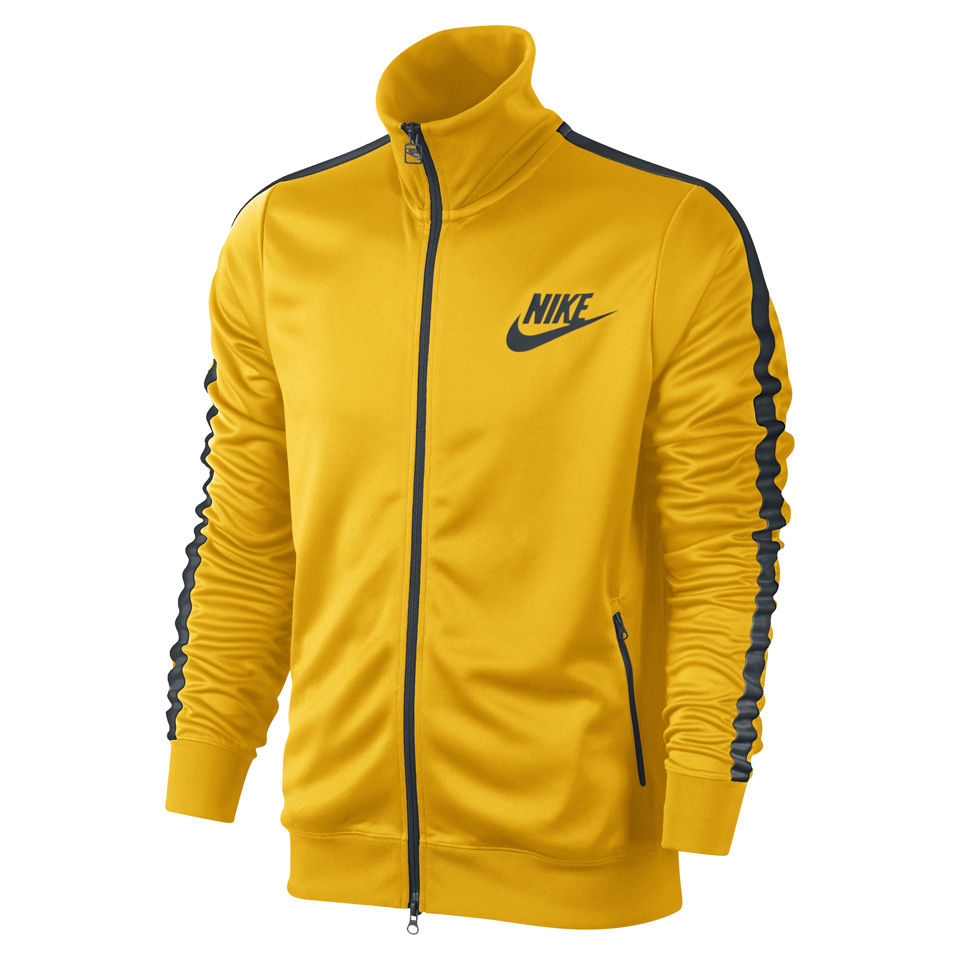 Nike Men S Tribute Track Jacket Yellow Green Sports