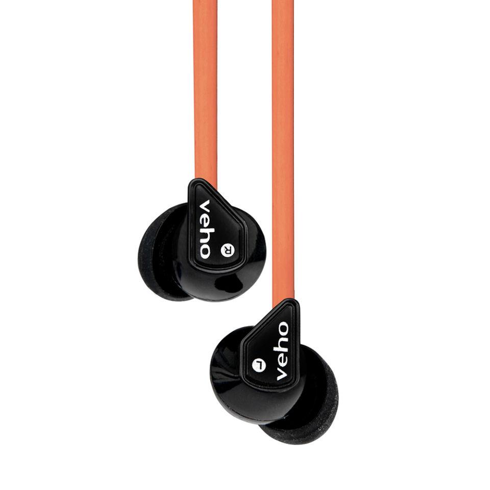 Auriculares Veho 360 con Cancelación de Ruido - Negro/Naranja
