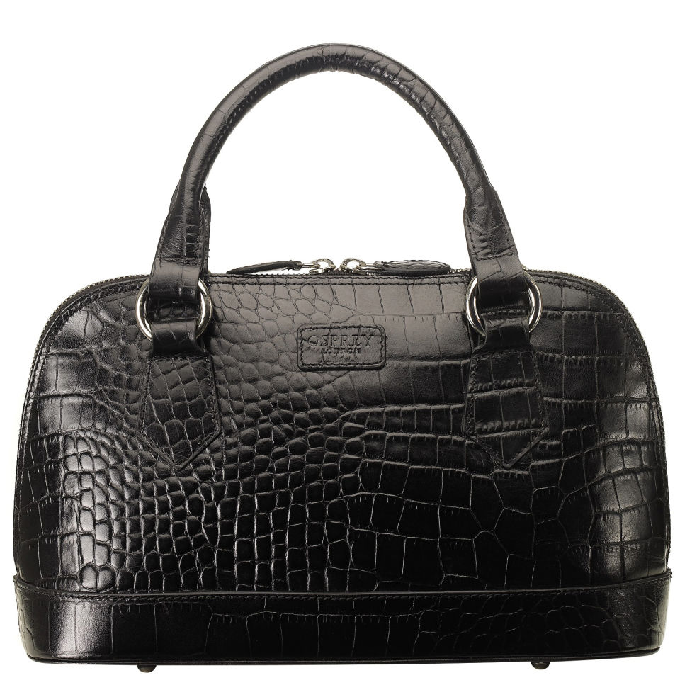 Osprey London The E W Ladybug Polished Croc Leather Grab
