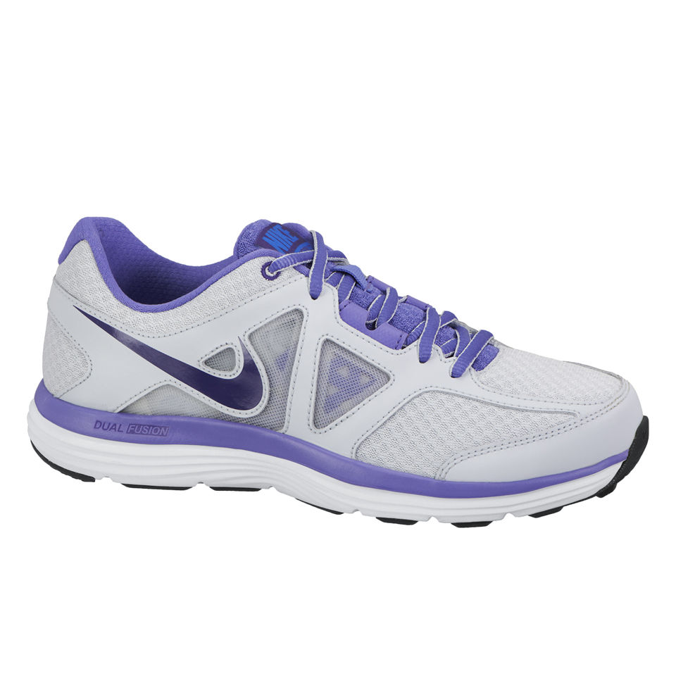 nike women 39 s dual fusion lite 2 mesh running shoes white lilac sports leisure. Black Bedroom Furniture Sets. Home Design Ideas