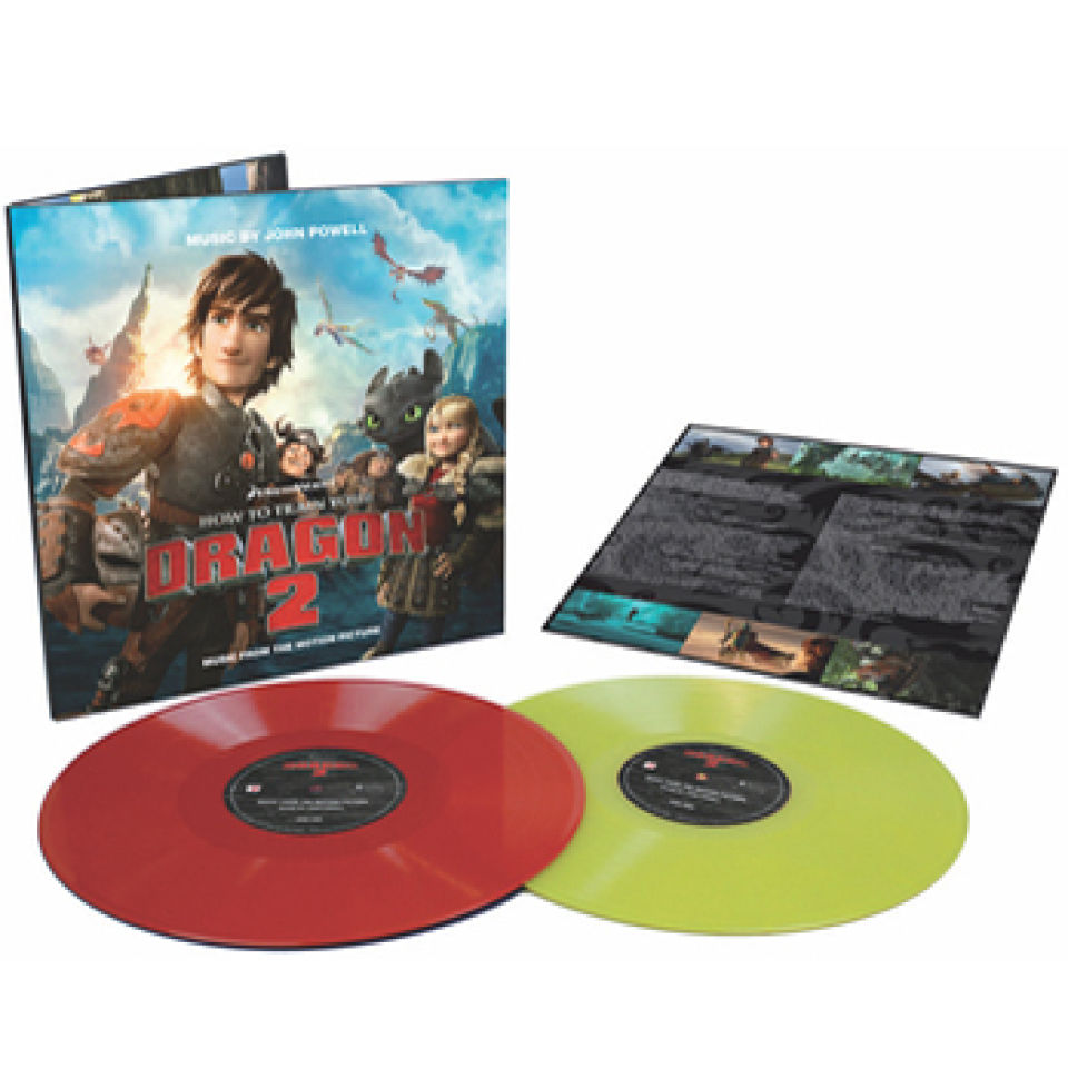 How To Train Your Dragon 2 Ost 2lp Limited Coloured