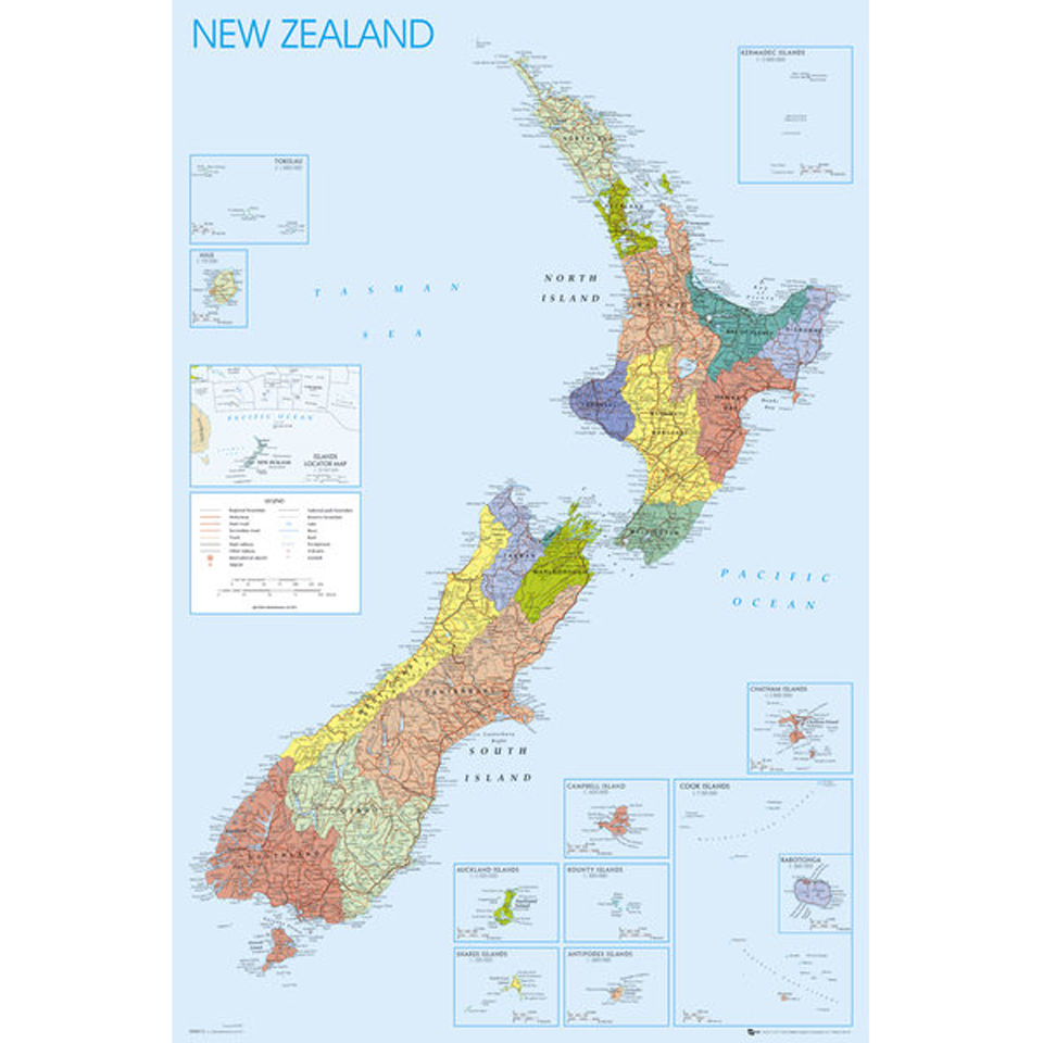 new-zealand-map-maxi-poster-61-x-915cm
