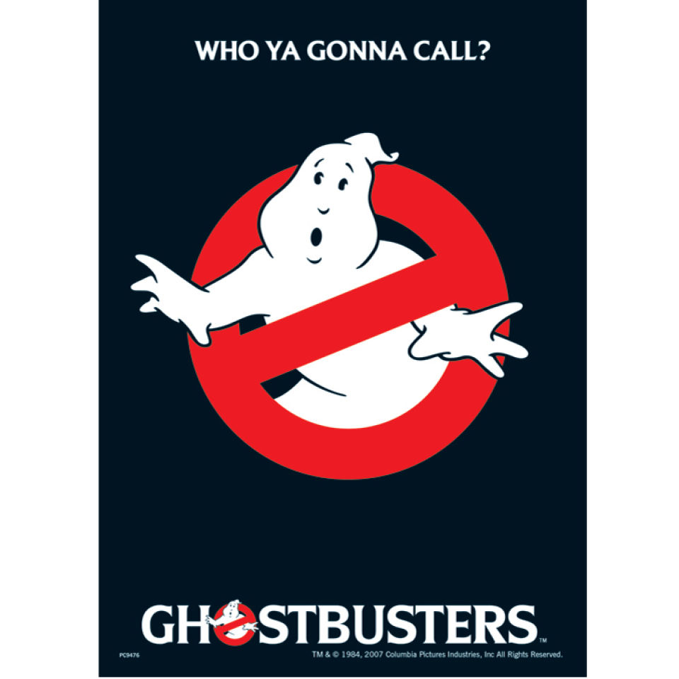 Ghostbusters Who You Gonna Call Postcard