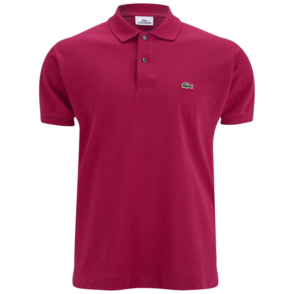 Lacoste Men's Polo Shirt - Bright Pink - Free UK Delivery ...