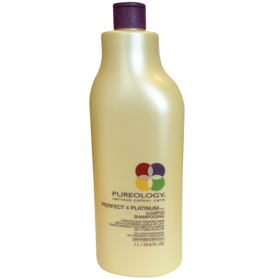 Pureology Perfect 4 Platinum Shampoo (1000ml) avec pompe