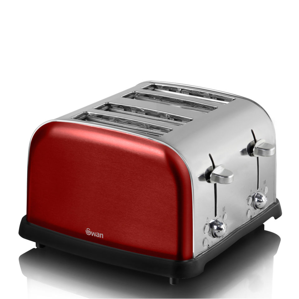swan-st16010roun-metallic-4-slice-toaster-rouge