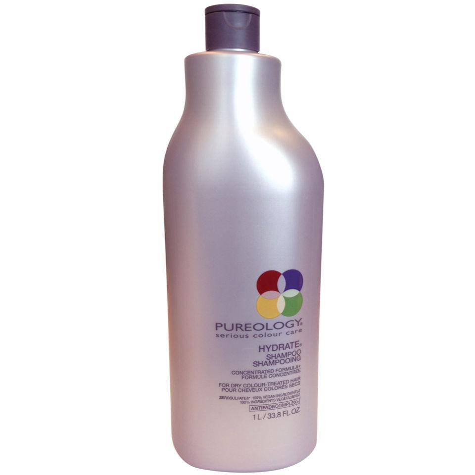 Pureology Pure Hydrate Shampoo (1000ml) avec pompe