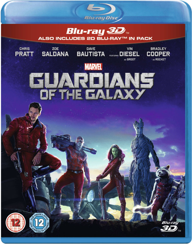 guardians of the galaxy 3d blu ray zavvi. Black Bedroom Furniture Sets. Home Design Ideas