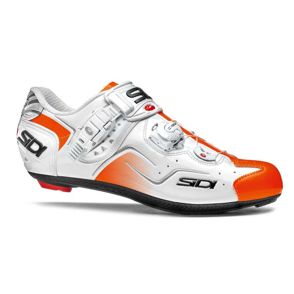 sidi-kaos-carbon-cycling-shoes-whiteorange-fluo-48-115-whiteorange