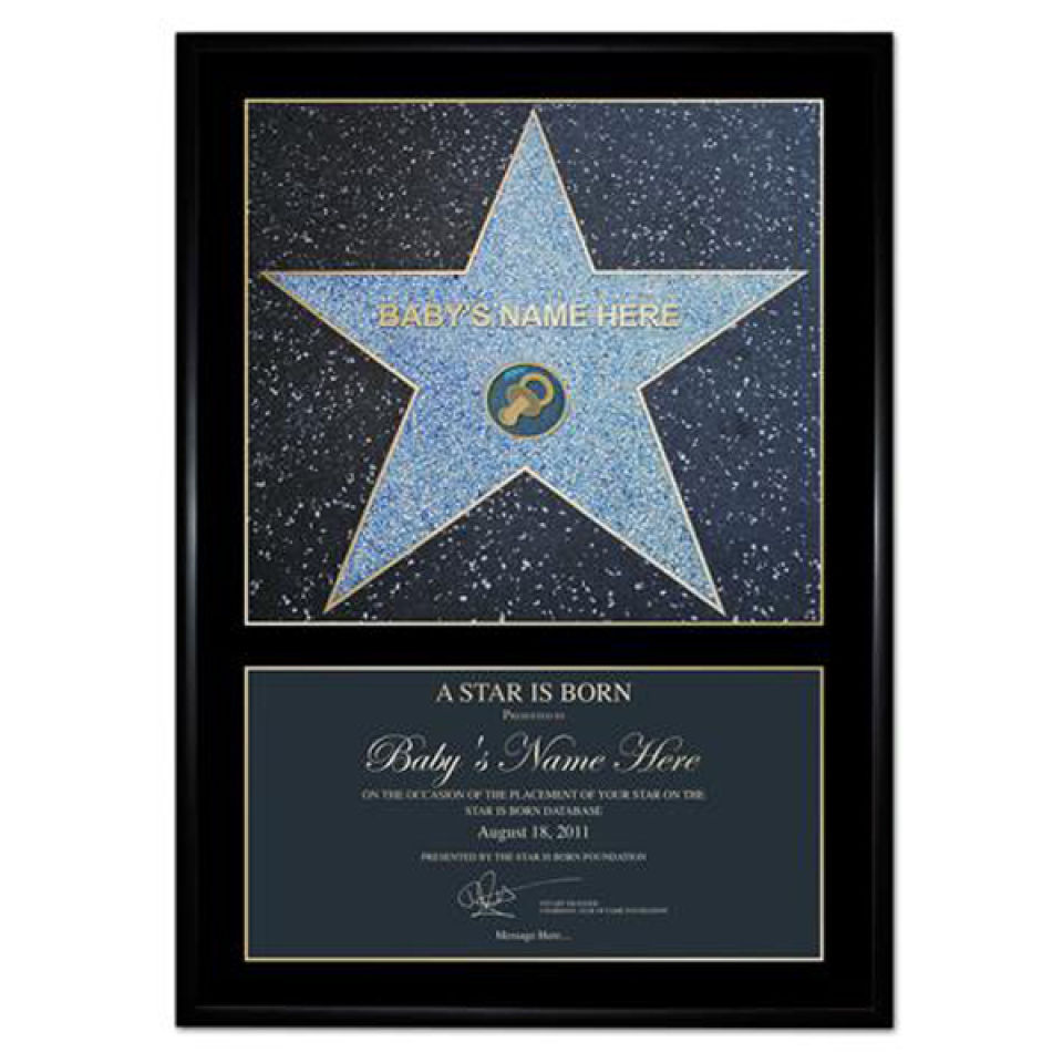 A Star Is Born Award Personalised Poster Gift Pack Iwoot