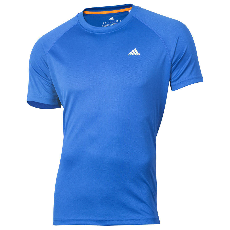 Adidas men 39 s essential classic t shirt blue sports for Adidas classic t shirt