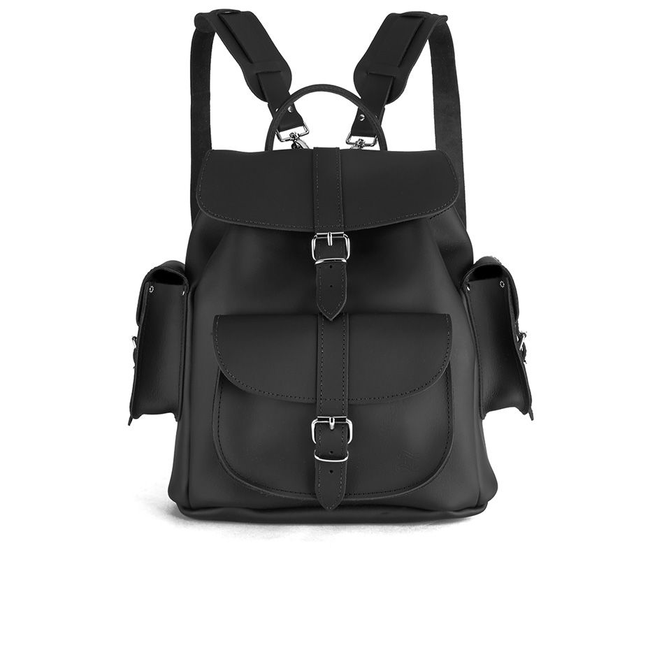 grafea-show-business-medium-leather-rucksack-black