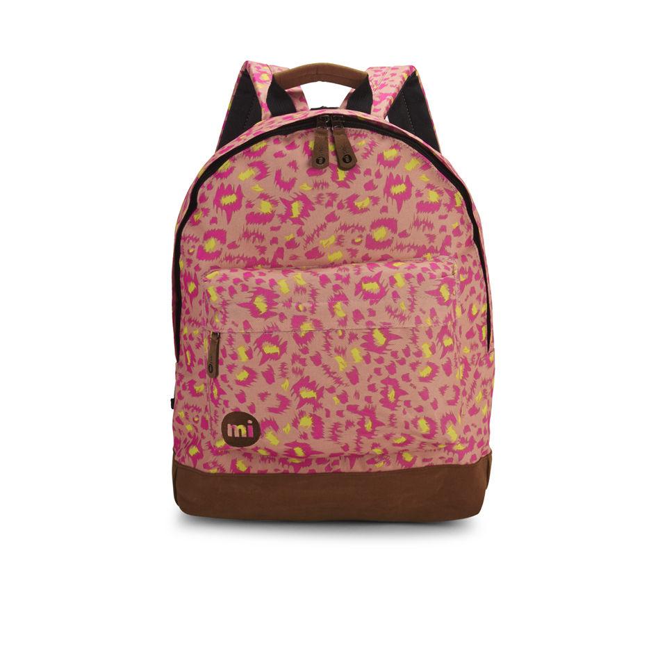 Mi Pac Custom Pink Leopard Backpack Pink Free Uk