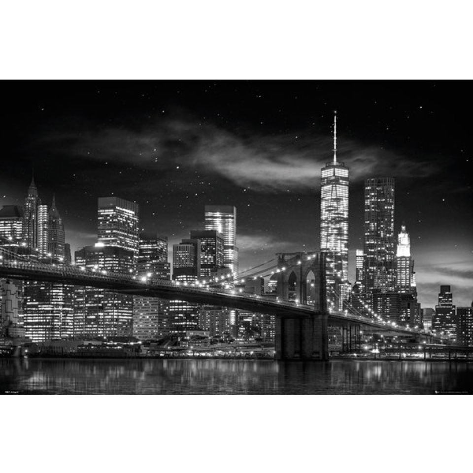 new-york-freedom-tower-black-white-maxi-poster-61-x-915cm