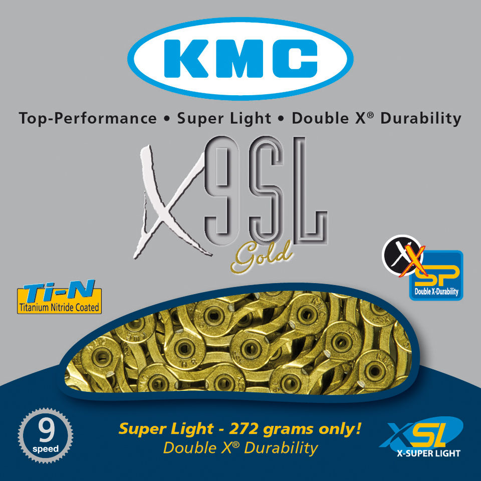 kmc-x9-super-light-chain-116-links-gold