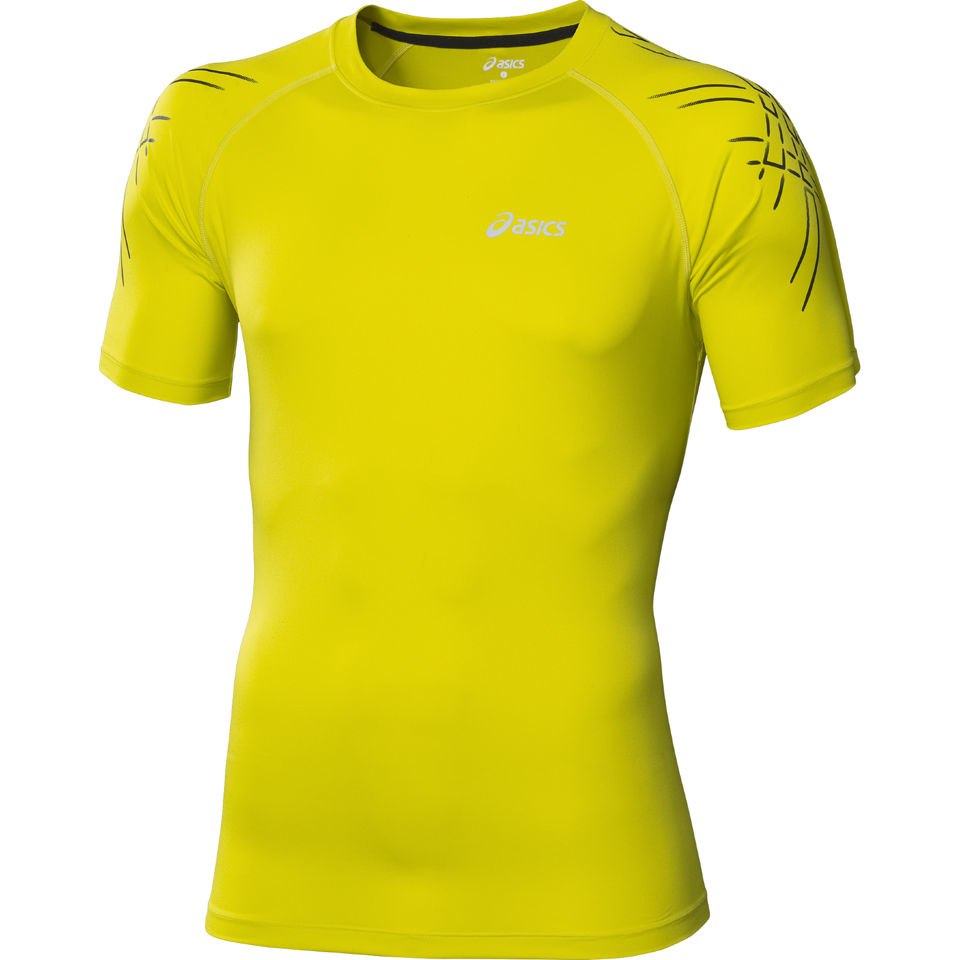 asics-men-tiger-running-top-electric-lime-xl-green