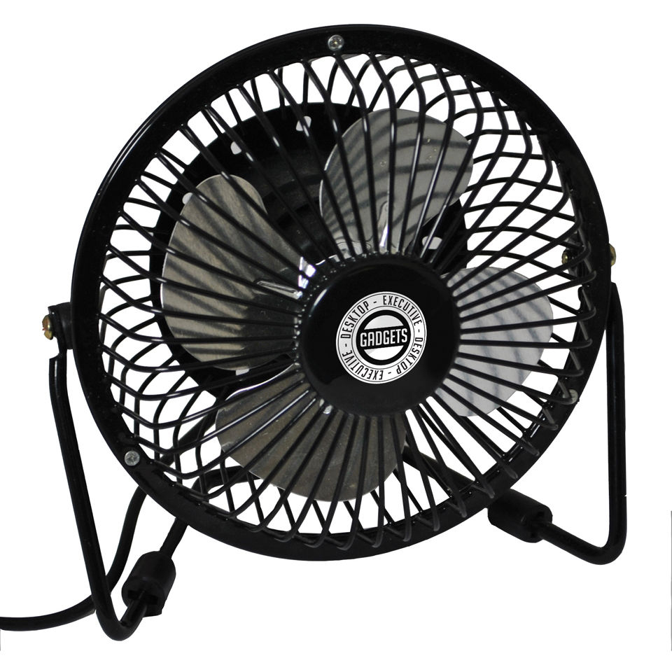 Executive Desktop USB Fan Black