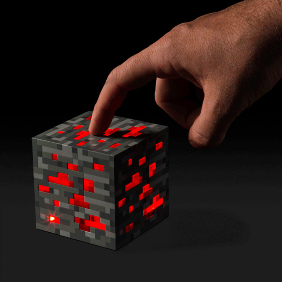 Minecraft Light Up Redstone Ore Merchandise Zavvi