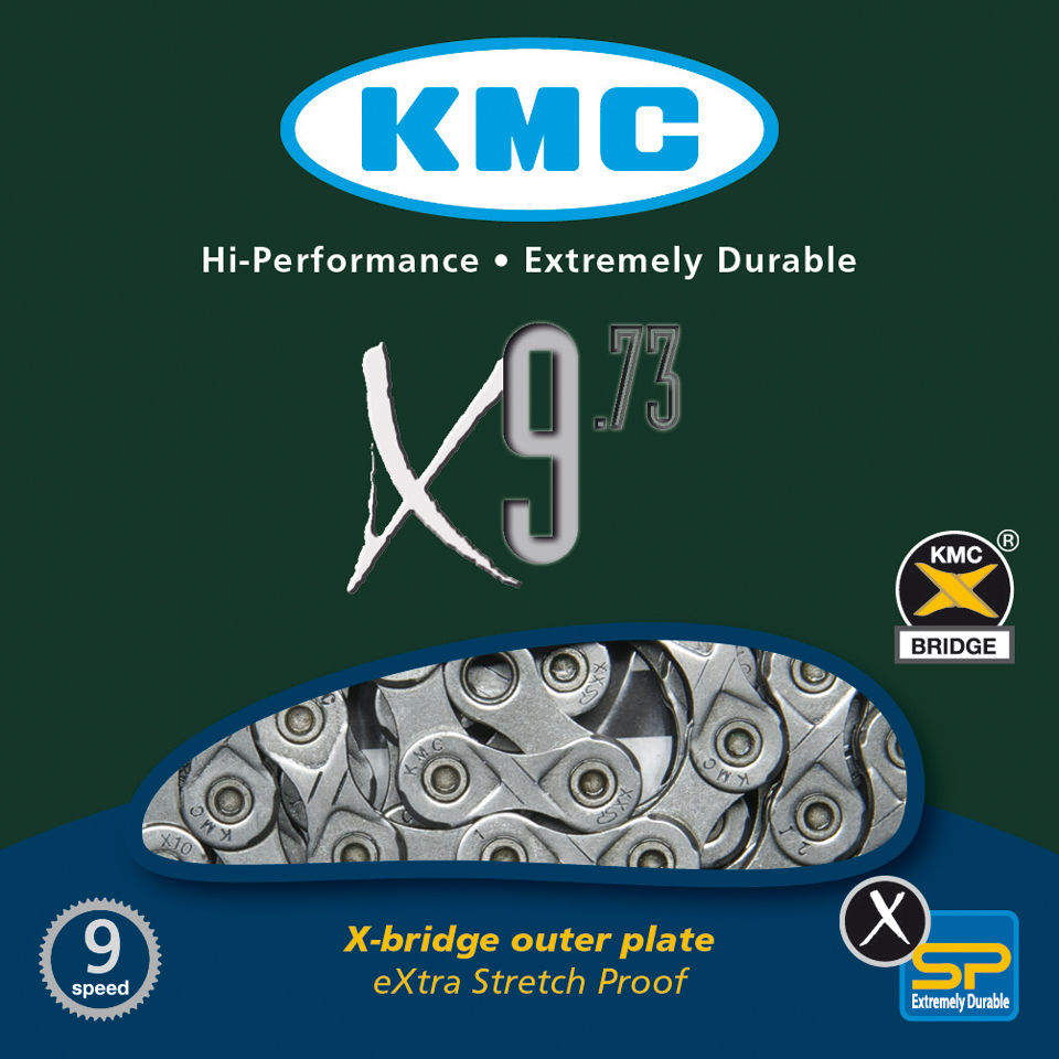 kmc-x9-73-chain-116-links-grey