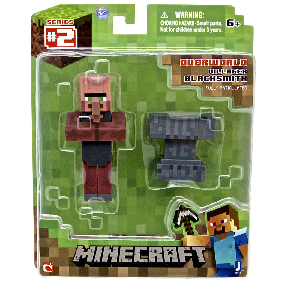 minecraft-3-inch-black-smith-villager-figure