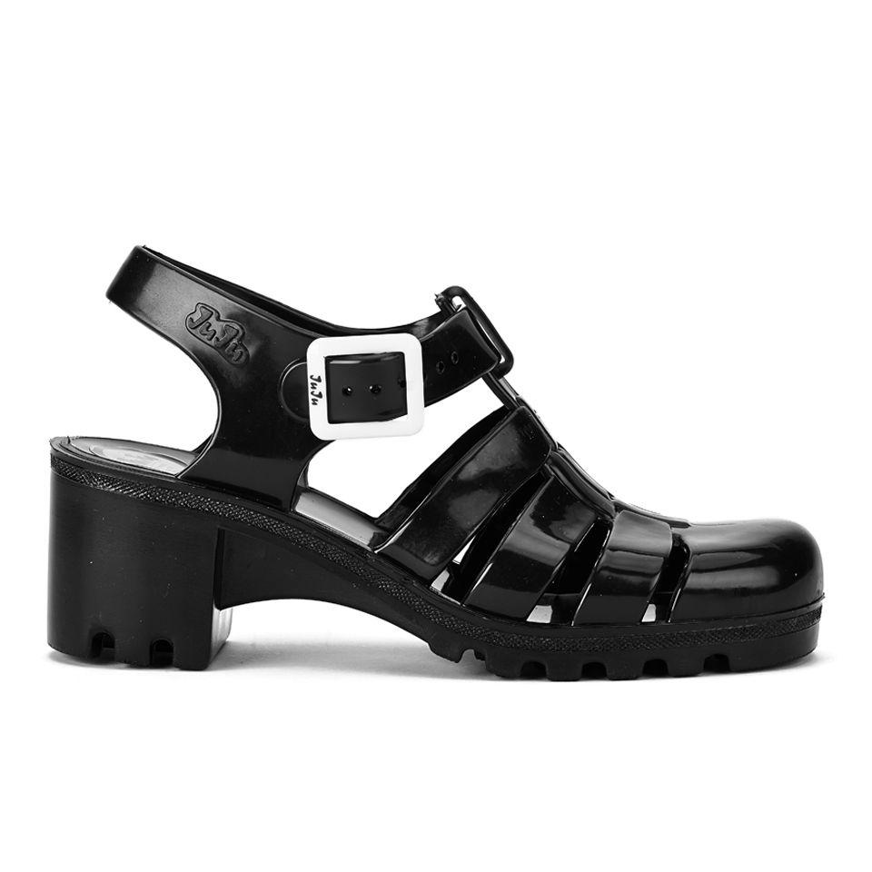 Black juju sandals - Juju Women S Babe Heeled Jelly Sandals Black Womens Footwear Thehut Com