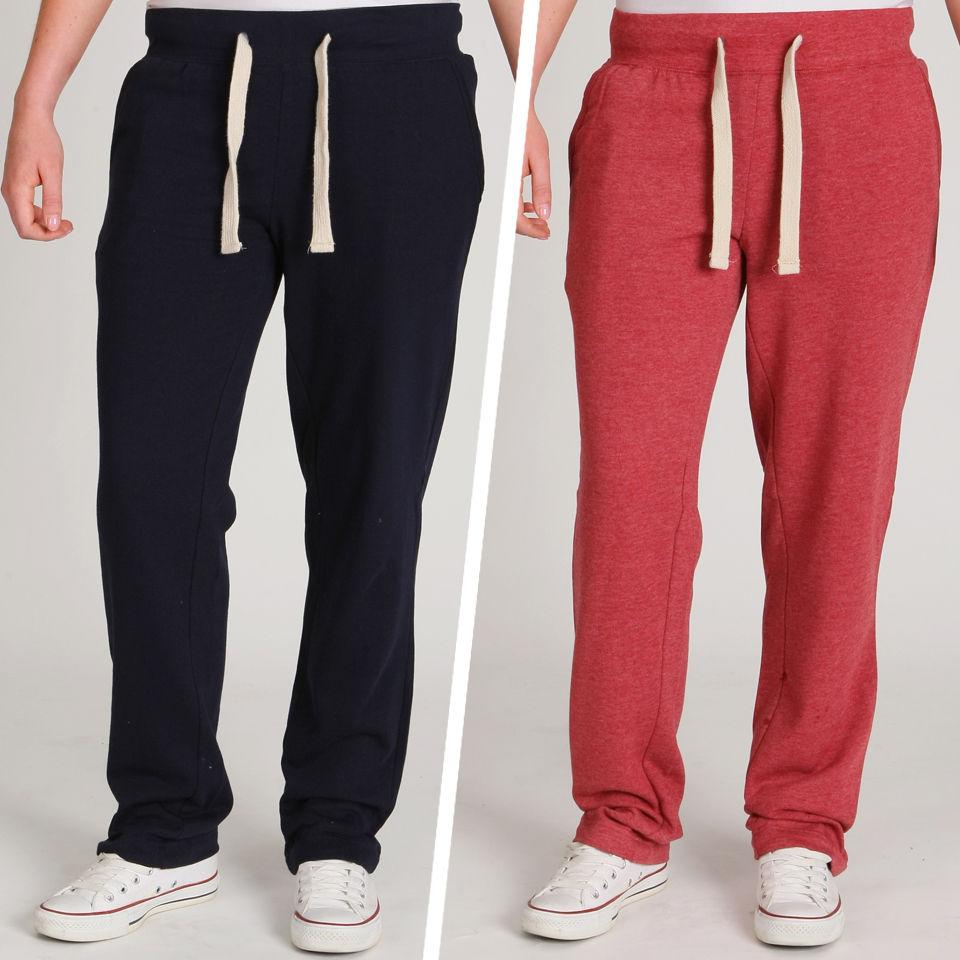 brave-soul-women-2-pack-sweat-pants-navyoxblood-red-l-navyoxblood-red