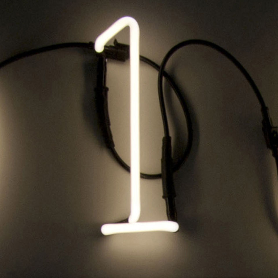 Metal Shaped Wall Lights : Seletti Neon Font Shaped Wall Light - 1 Homeware Zavvi.com