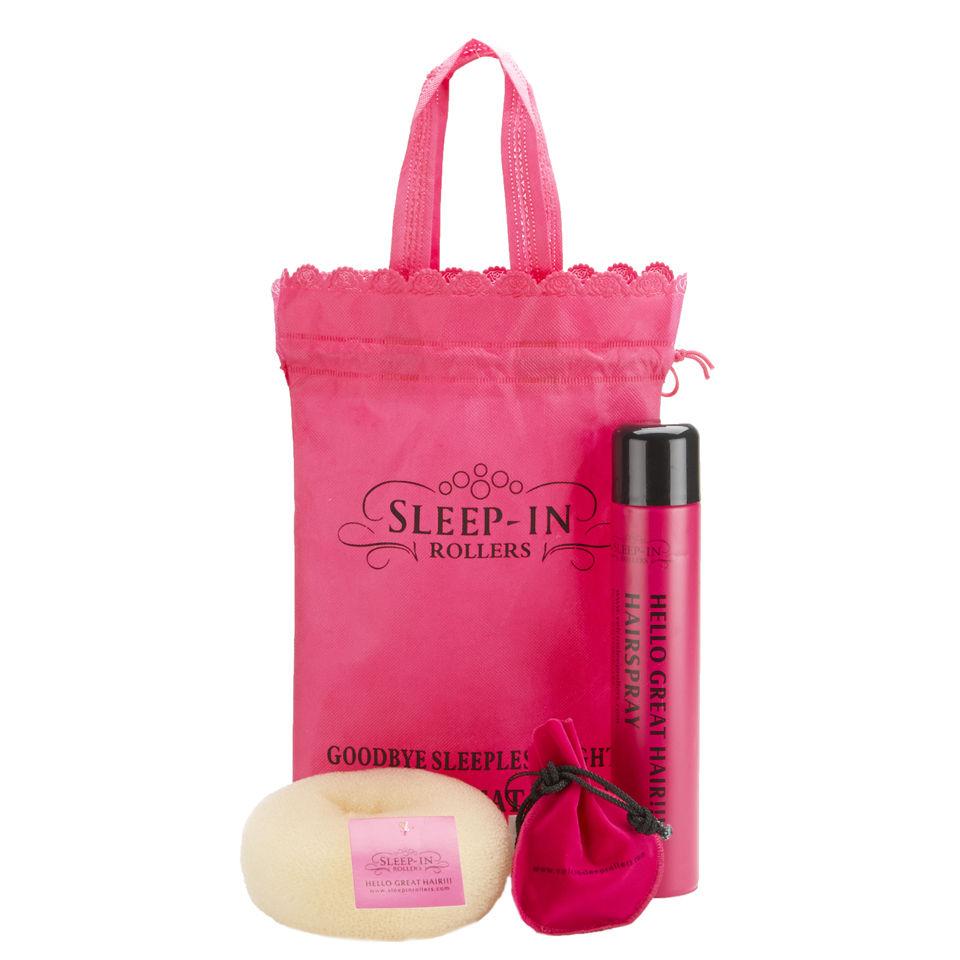 sleep-in-rollers-blonde-accessories-bun-ring-hairspray-clips